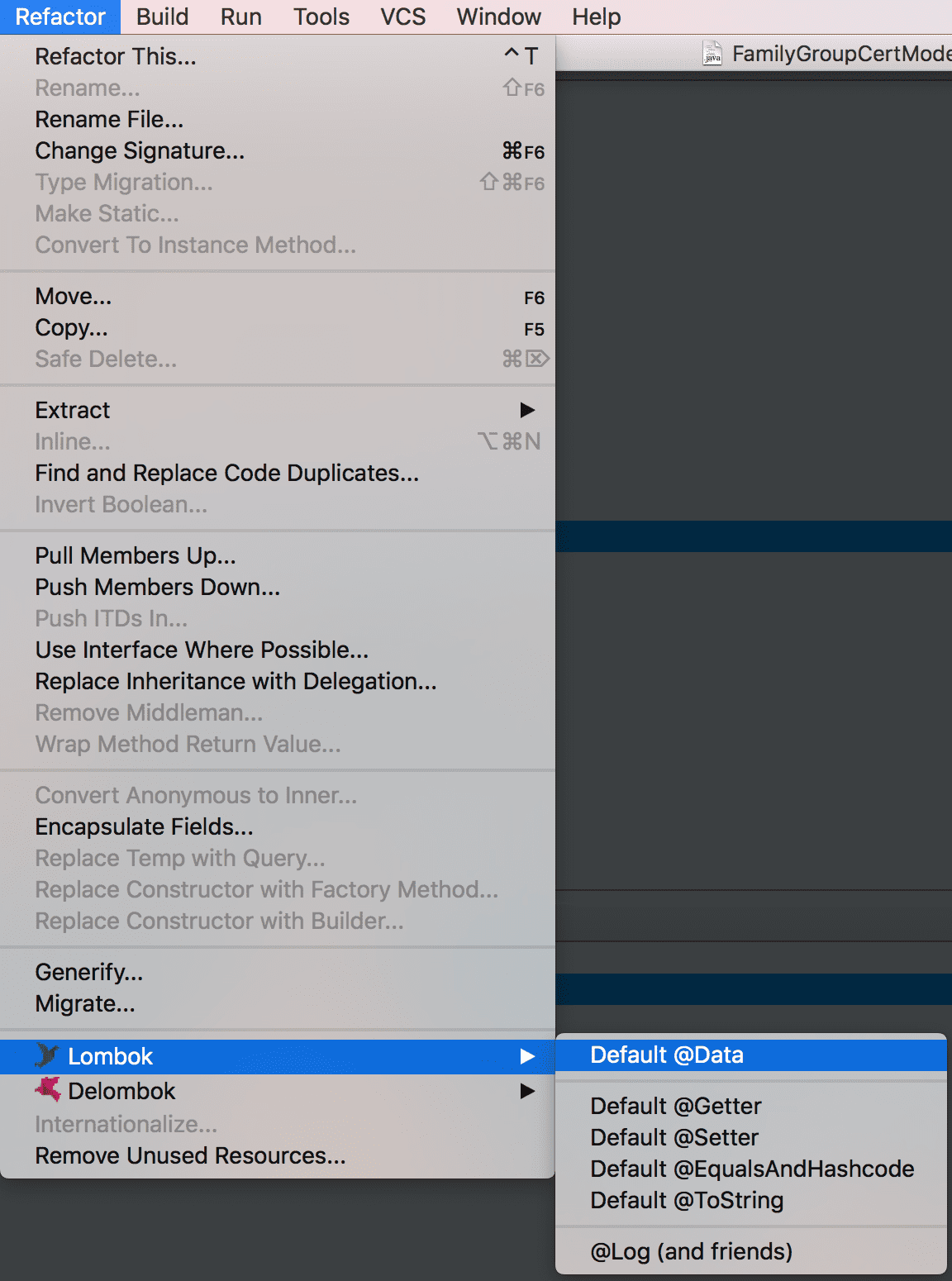 IntelliJ clean up JPA generated models for use with Lombok